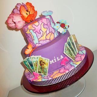 Violet cake