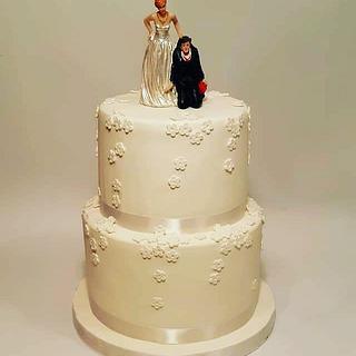 Wedding white cake