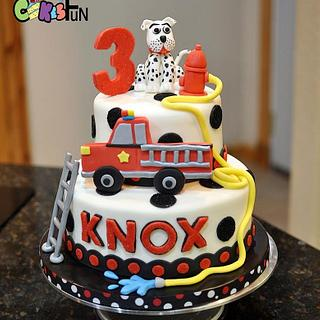 Fire Truck Birthday cake - Cake by Cakes For Fun