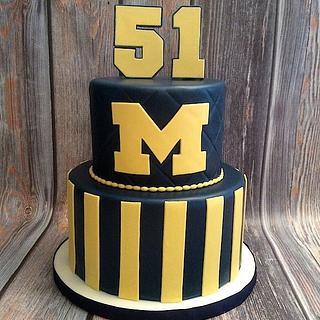 University of Michigan Anniversary Cake - Cake by Benni Rienzo Radic