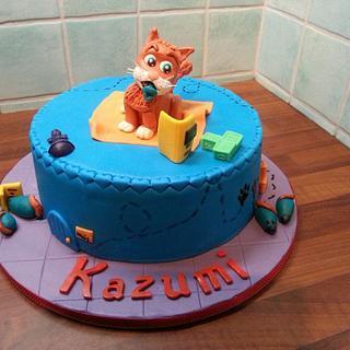 Cat babyshower cake
