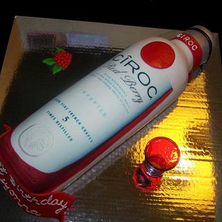 Ciroc Bottle Cake