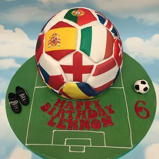Euro football cake