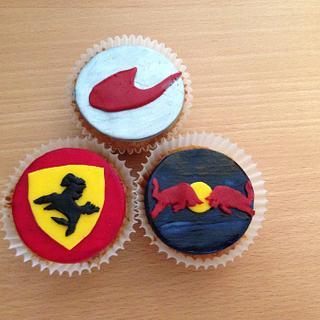Formula One cupcakes