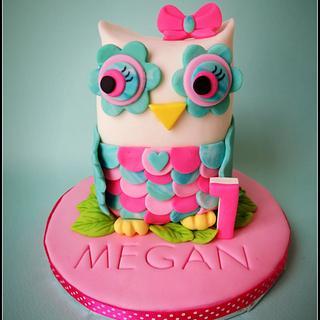 First birthday owl