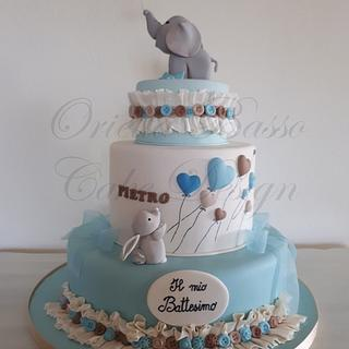 Pietro's Baptism - Cake by Orietta Basso