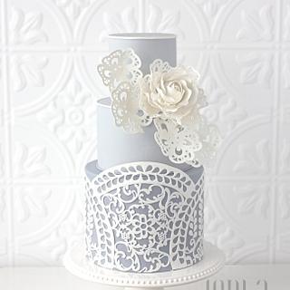 Laser-Cut Cake and Fleur