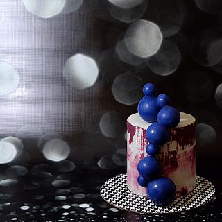 Modern sphere cake
