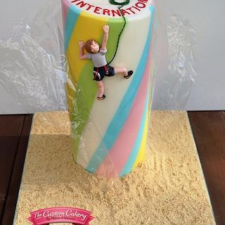 'Rock Climber' with Gelatine Wrapper - Cake by The Custom Cakery