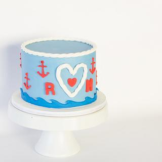 Sailor Anniversary   - Cake by Anchored in Cake