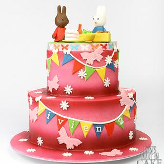 Colorful kids cake