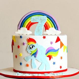 Rainbow 🌈  - Cake by Somoshree Khandekar