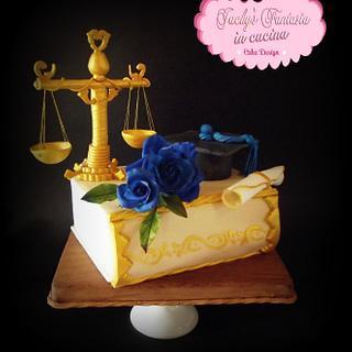Topper cake laurea