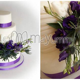 Purple wedding cake - Cake by Mayummy