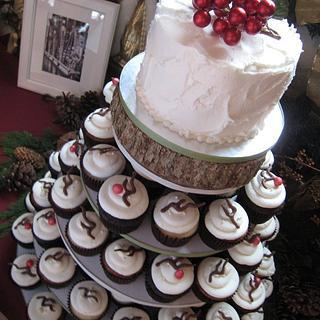 Winter Wedding - Cake by Laura