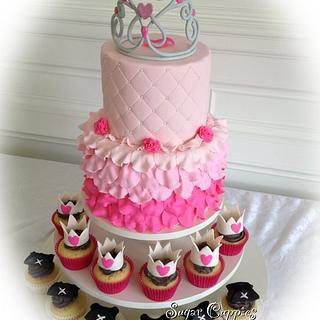 Princess Rose Petal Ruffles - Cake by Oribel