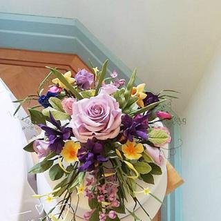 Spring flower arrangement  - Cake by Andrea