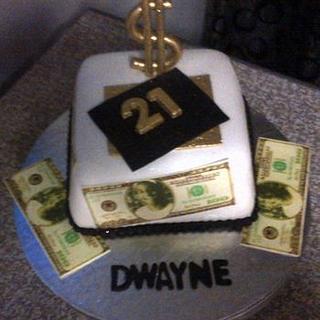 21st Dollar Bill Cake