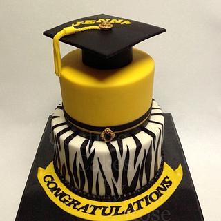 Blingtastic Graduation Cake