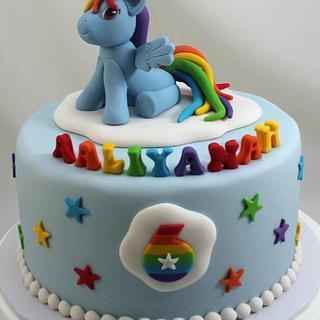 Rainbow Bright - Cake by Kake Krumbs