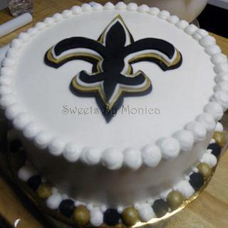 Awe Inspiring New Orleans Saints Cake 4 Cakes Cakesdecor Personalised Birthday Cards Cominlily Jamesorg