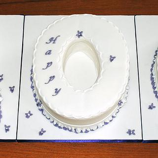 Violet 100th Birthday - Cake by Sylvania Cakes - Exeter