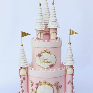 Pink Castle Cake - Cake by Peggy Does Cake