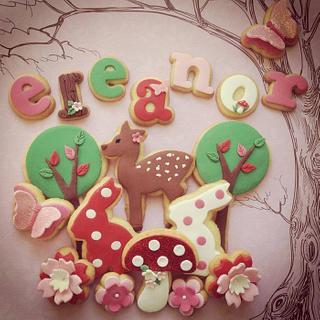 Custom cookie set woodland theme