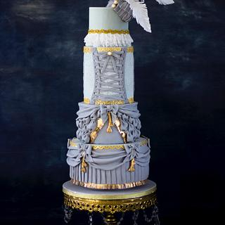"Wedding cake inspired by ""Barbie"" fashion collaboration"
