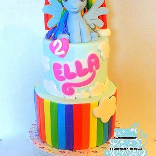 My Little Pony Rainbow Dash Cake