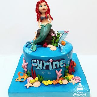 Ariel mermaid cake
