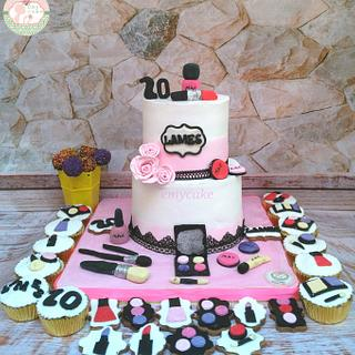 Makeup cake cupcakes cookies