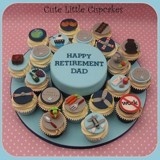 Retirement Cake & Cupcakes