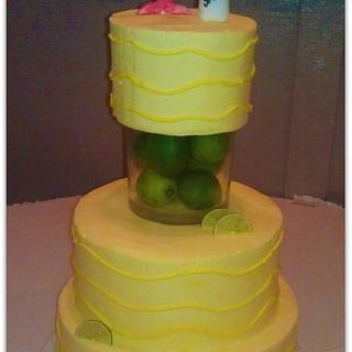 Margarita Lime Bridal Shower Cake
