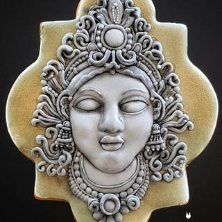My grey/black stone Cookie - MAGNIFICENT BANGLADESH - AN ART CAKE COLLABORATION - Cake by The Cookie Lab  by Marta Torres