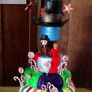 Charlie & The Chocolate Factory Themed Birthday Cake