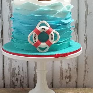 Little Sailor Baby Shower Cake