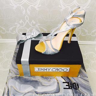 Jimmy Choo shoe cake - Cake by designed by mani