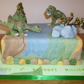 Jurassic Scene Cake - Dinosaurs - Cake by Caroline's Cake Co