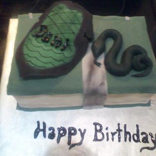Slytherin Theme Cake