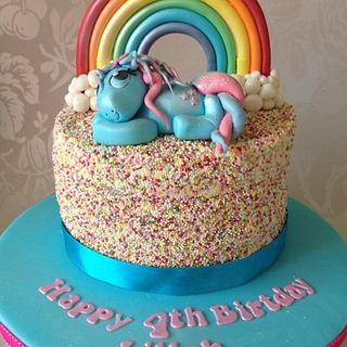 Rainbow Sprinkles My Little Pony Cake