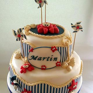 Martin's Christening  - Cake by  Michela Barocci - Sugar Artist
