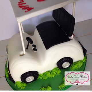 Golf Cart Cake  - Cake by Patty Cakes Bakes