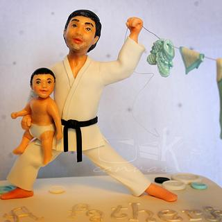 Karate Dad - Cake by Anna Mathew Vadayatt