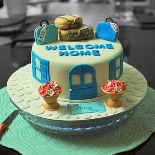 WELCOME HOME CAKE!!!