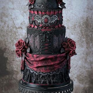 Gothic Halloween cake