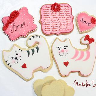 Vanilla fondant cookies
