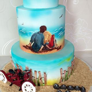 Romantic Memories Wedding Cake