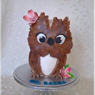Sweet owl cake - Cake by Tortolandia
