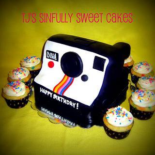 Polaroid Land Camera Cake